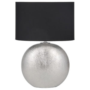 Silver Ceramic Table Lamp