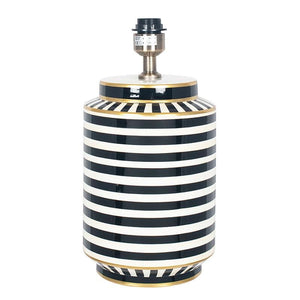 Humbug Black and White Stripe Tall Table Lamp