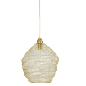 Nina Single Light Gold Wire Pendant