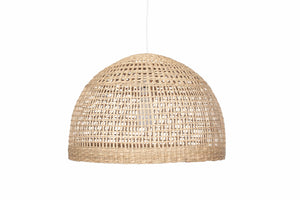 Natural Woven Wide Dome Pendant