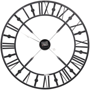 Antique Grey Skeleton Wall Clock