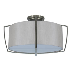 Grey Shade with Metal Frame Pendant