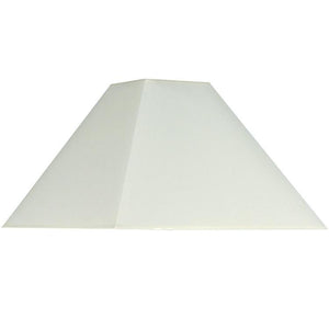 Cream Cotton Tapered Square Shade