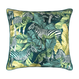 Madagascar Green Cushion 45x45cm