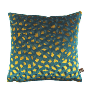 Harlow Teal Gold Cushion 43x43cm
