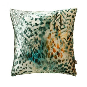 Tigerlily Green Ochre Cushion 43x43cm