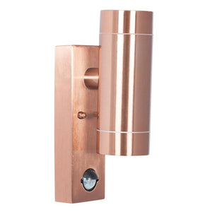 Copper Dual Light Sensor Outdoor Wall Light PIR