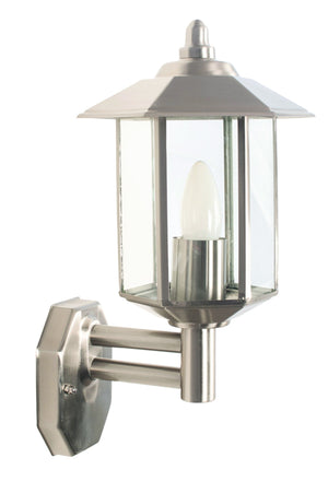 Stainless Steel Metal Outdoor Lantern Wall Light