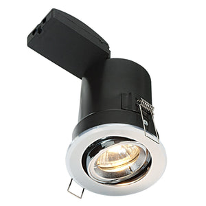 ShieldPLUS Mv Tilt Downlight Polished Chrome