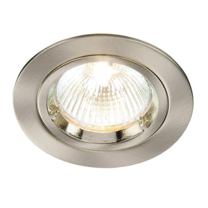 Cast Fixed Downlight Satin Nickel
