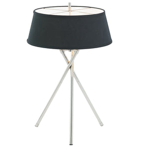 Arlo Polished Chrome Tripod Table Lamp