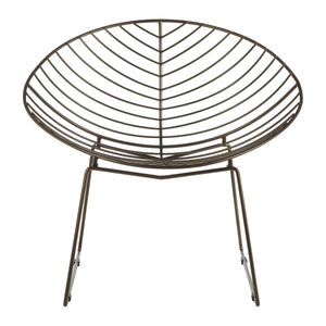 Oliver Bronze Wire Chair