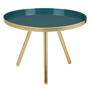 Lily Small Enamel Table Diesel Green