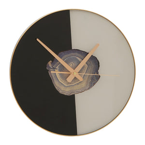 Agate Wall Clock Black/White