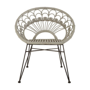 Merida Grey Rattan Chair