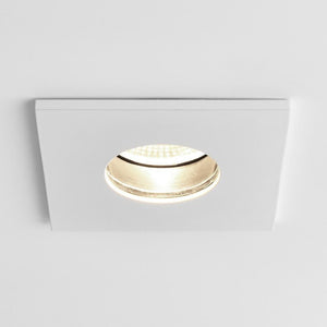 Obscura Square Recessed LED Ceiling Light Matt White