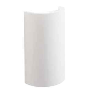 Crescent 2Lt Plaster Wall Light
