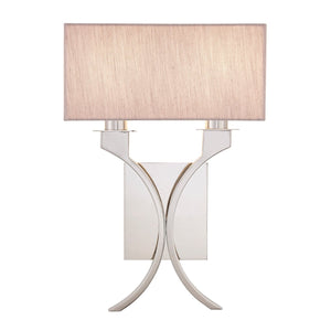 Vienna Twin Wall Light with Beige Shade
