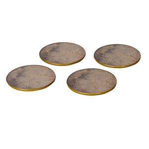 Vienna Antique Gold Set of 4 Atlas Coasters