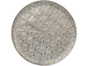 Antique Silver Filigree Wall Disc