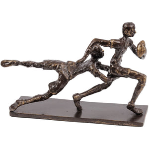 Bronze Rugby Tackle Sculpture
