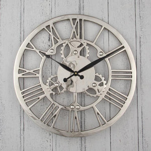Nickel Cog Design Clock