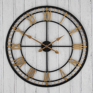 Bronze & Gold Round Wall Clock