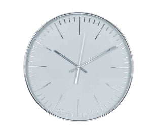 Silver & Grey Round Wall Clock