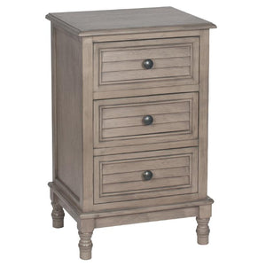 Taupe Pine Wood 3 Drawer Unit
