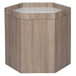 Natural White Wood Storage Box Small