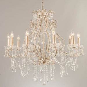 Rusalka 10 Light Silver Crystal Chandelier