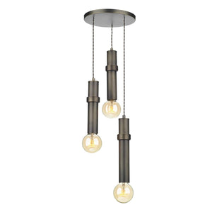 David Hunt Adling 3 Light Pendant Antique Brass