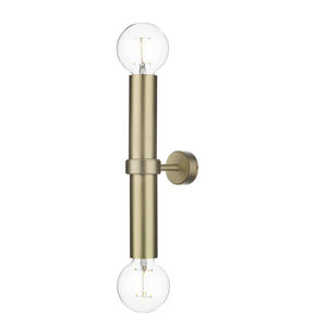 David Hunt Adling Double Wall Bracket Butter Brass
