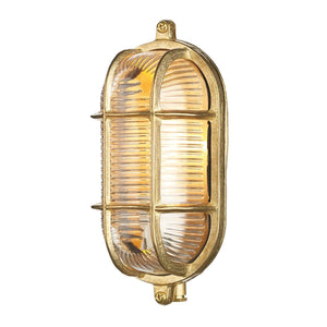 David Hunt Admiral Small Oval Brass Outdoor Wall