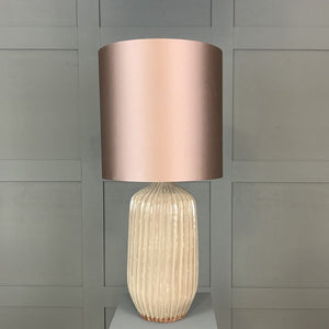 Tiree Table Lamp with Blush Pink Shade