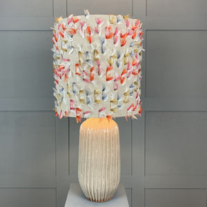 Tiree Table Lamp with Fluffy Rainbow Shade