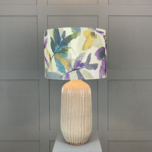 Tiree Table Lamp with Azzuro Orchid Shade