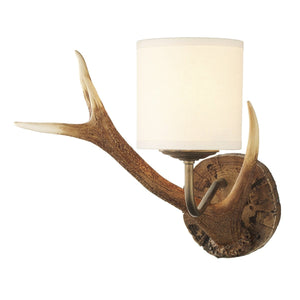 David Hunt Antler Wall Light Small complete with Shade