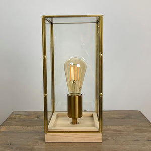 Askjer Wood & Bronze Table Lamp