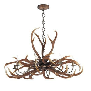 David Hunt Antler Rustic Emperor 8 Light Chandelier