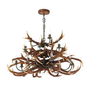 David Hunt Antler Rustic 17 Light Chandelier