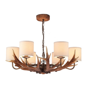 David Hunt Antler 6 Light Pendant complete with Shades