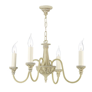 David Hunt Bailey 4 Light Cream Chandelier