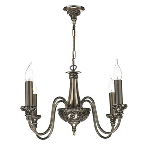 David Hunt Bailey 4 Light Bronze Chandelier