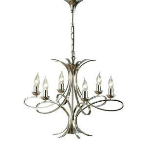 Penn Nickel 6 Lt Medium Chandelier