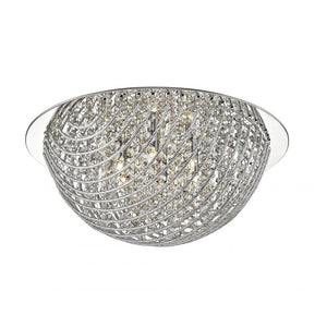 Millie 5Lt Crystal Flush Ceiling Light Chrome