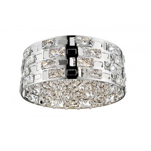 Lola 5Lt Crystal Chrome Flush Ceiling Light