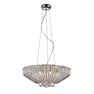 Carlo 7 Light Crystal Chrome Pendant