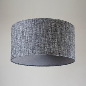 Weave Charcoal & Weave Sterling Drum Shade