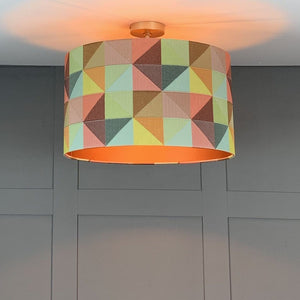Electrified Limoges Shade with Copper Fabric Lining